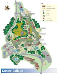 Map of Kresge College  Provided by the UCSC website