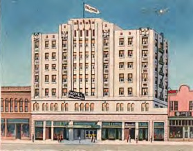 Designed by prominent California architectWilliam H. Weeks the historic Hotel Palomar building is considered to be quintessential of late 1920's Art Deco style.
