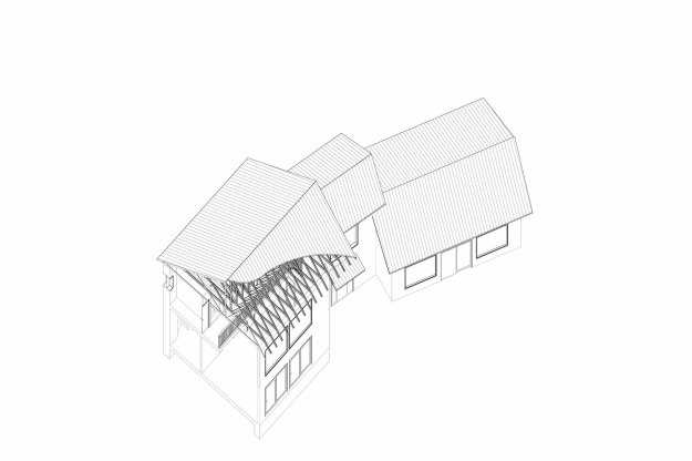 …group minor rooms around a central, south-facing double-volume element…properly glazed…an effective convection cell to distribute thermal energy to or from the various parts of the building.