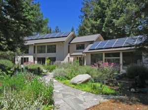Vega House at Skyote Mountain, a strawbale home designed using passive solar principals
