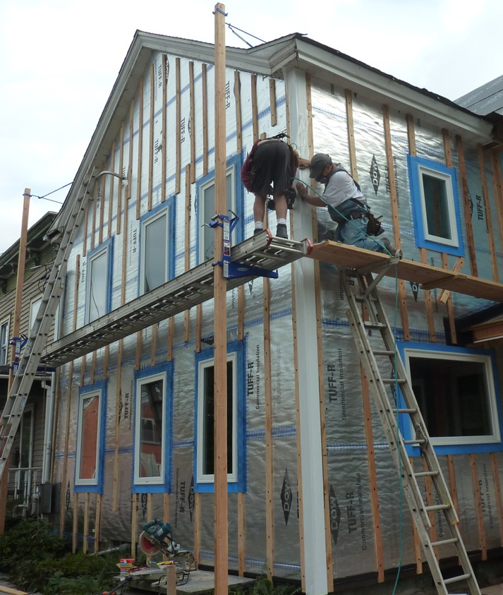All about rainscreens Structural fiberboard sheathing
